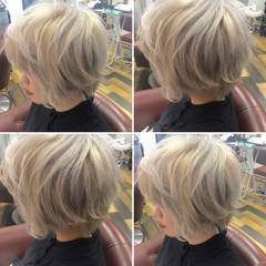 ベージュ ホワイト 外国人風 ストリート ヘアスタイルや髪型の写真・画像
