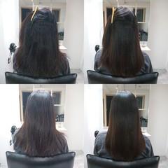 ロング 艶髪 髪質改善トリートメント ナチュラル ヘアスタイルや髪型の写真・画像