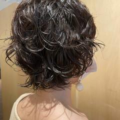 ウルフカット  ボブ パーマ ヘアスタイルや髪型の写真・画像
