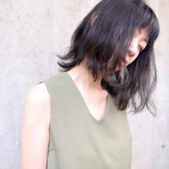 前髪あり ゆるふわセット ミディアム 大人ミディアム ヘアスタイルや髪型の写真・画像