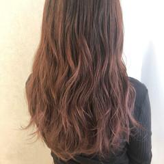 外国人風カラー ピンク ピンクベージュ ベリーピンク ヘアスタイルや髪型の写真・画像