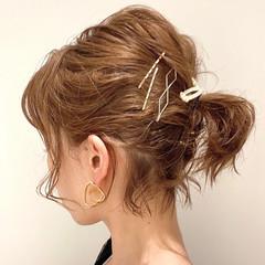 ミニボブ 簡単ヘアアレンジ ボブ ヘアアレンジ ヘアスタイルや髪型の写真・画像