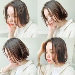 切りっぱなしボブ デート ボブ ナチュラル ヘアスタイルや髪型の写真・画像
