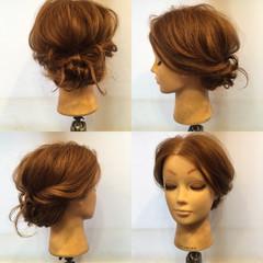 ヘアアレンジ 波ウェーブ フェミニン ねじり ヘアスタイルや髪型の写真・画像