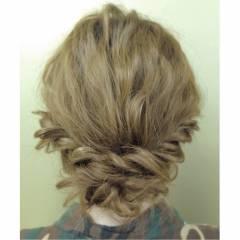 簡単ヘアアレンジ ヘアアレンジ コンサバ アップスタイル ヘアスタイルや髪型の写真・画像