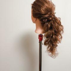 ポニーテールアレンジ ポニーテール フェミニン セミロング ヘアスタイルや髪型の写真・画像
