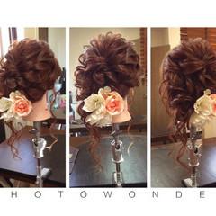 ロング フェミニン ヘアアレンジ ゆるふわ ヘアスタイルや髪型の写真・画像