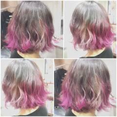ゆるふわ フェミニン グラデーションカラー ガーリー ヘアスタイルや髪型の写真・画像