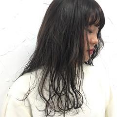 ロング 原宿系 グラデーションカラー ナチュラル ヘアスタイルや髪型の写真・画像