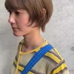 ショート モード デート ミルクティーベージュ ヘアスタイルや髪型の写真・画像