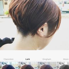 刈り上げ ショート ボブ ナチュラル ヘアスタイルや髪型の写真・画像