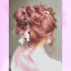 フェミニン ショート ボブ 簡単ヘアアレンジ ヘアスタイルや髪型の写真・画像