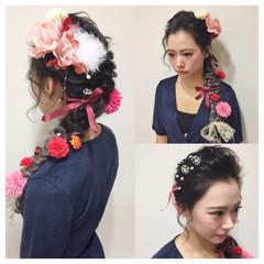 ショート 簡単ヘアアレンジ ロング 外国人風 ヘアスタイルや髪型の写真・画像