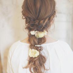 ヘアアレンジ 外国人風 ブラウン 結婚式 ヘアスタイルや髪型の写真・画像