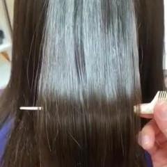 ナチュラル 艶髪 セミロング サラサラ ヘアスタイルや髪型の写真・画像
