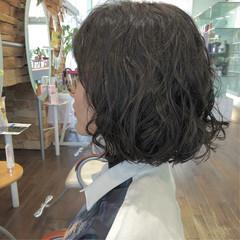 ナチュラル ボブ パーマ 大人女子 ヘアスタイルや髪型の写真・画像