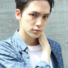 メンズ パーマ 黒髪 ストリート ヘアスタイルや髪型の写真・画像