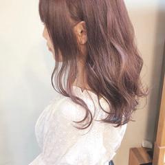 ラベンダーアッシュ かわいい 透明感カラー ガーリー ヘアスタイルや髪型の写真・画像