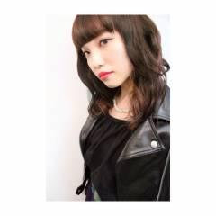 パンク モード ミディアム ウェットヘア ヘアスタイルや髪型の写真・画像