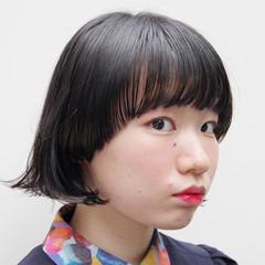 ワイドバング ボブ ウルフカット モード ヘアスタイルや髪型の写真・画像