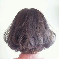 ラベンダーアッシュ 外国人風 ボブ アッシュ ヘアスタイルや髪型の写真・画像