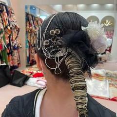 ヘアセット セミロング ナチュラル ヘアアレンジ ヘアスタイルや髪型の写真・画像