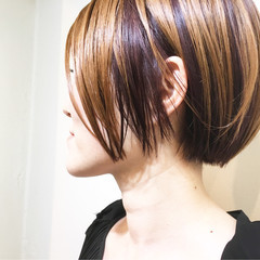 ストリート 簡単ヘアアレンジ ボブ ハイトーン ヘアスタイルや髪型の写真・画像