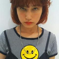 パーマ モード ニュアンス 前髪あり ヘアスタイルや髪型の写真・画像
