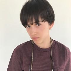 かっこいい モード 暗髪 マッシュ ヘアスタイルや髪型の写真・画像