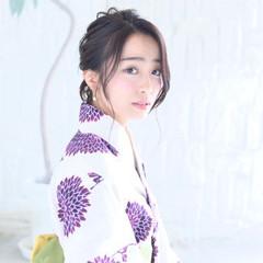 お団子 お祭り ロング 花火大会 ヘアスタイルや髪型の写真・画像