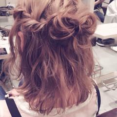 外国人風 ヘアアレンジ ブラウン ショート ヘアスタイルや髪型の写真・画像