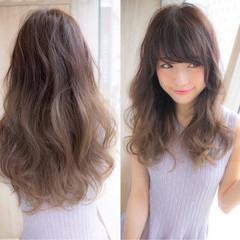 グラデーションカラー ガーリー ゆるふわ 前髪あり ヘアスタイルや髪型の写真・画像