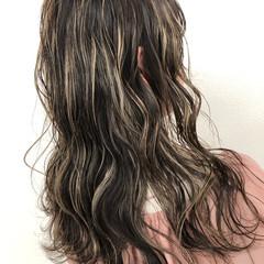 ハイライト ヘアアレンジ グラデーションカラー ロング ヘアスタイルや髪型の写真・画像