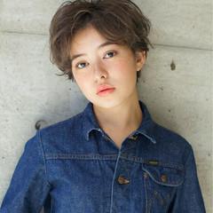 アンニュイ 外国人風カラー ゆるふわ ショート ヘアスタイルや髪型の写真・画像