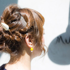 簡単ヘアアレンジ ロング パーマ 大人かわいい ヘアスタイルや髪型の写真・画像