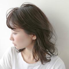 大人かわいい ミディアム ゆるふわ モテ髪 ヘアスタイルや髪型の写真・画像