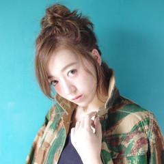 ミディアム ヘアアレンジ 渋谷系 大人かわいい ヘアスタイルや髪型の写真・画像