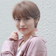ショートボブ ベリーショート 透明感カラー フェミニン ヘアスタイルや髪型の写真・画像