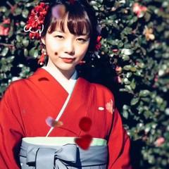 ミディアム ヘアアレンジ 袴 謝恩会 ヘアスタイルや髪型の写真・画像