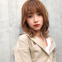 アンニュイほつれヘア ミディアム ふんわり前髪 ミディアムレイヤー ヘアスタイルや髪型の写真・画像
