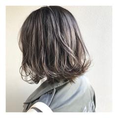 バレイヤージュ ハイトーン 外国人風カラー ショートボブ ヘアスタイルや髪型の写真・画像