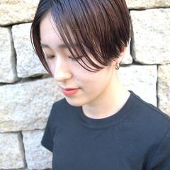 ラベンダーピンク 濡れ髪スタイル ナチュラル ラベンダーアッシュ ヘアスタイルや髪型の写真・画像
