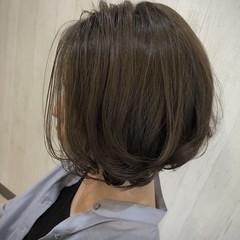 小顔ショート ナチュラル ボブ ショートボブ ヘアスタイルや髪型の写真・画像
