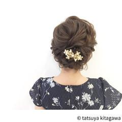 結婚式 ゆるふわ 外国人風 ボブ ヘアスタイルや髪型の写真・画像