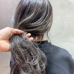 ストリート ハイライト 3Dハイライト ロング ヘアスタイルや髪型の写真・画像
