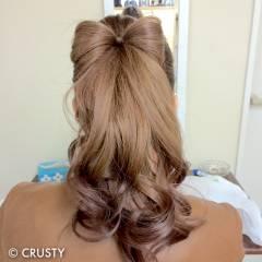 ロング 結婚式 ヘアアレンジ ポニーテール ヘアスタイルや髪型の写真・画像