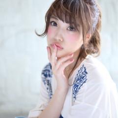 可愛い ゆるふわ ふわふわ 小顔 ヘアスタイルや髪型の写真・画像