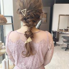 結婚式 編みおろしヘア エレガント ヘアアレンジ ヘアスタイルや髪型の写真・画像