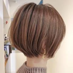 ショートボブ ショート ナチュラル 40代 ヘアスタイルや髪型の写真・画像