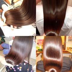 最新トリートメント 艶髪 髪質改善 セミロング ヘアスタイルや髪型の写真・画像